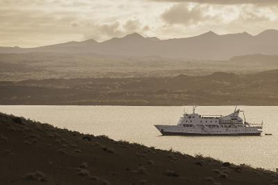 A Passenger Expedition Ship Cruises the Galapagos Islands-Jad Davenport-Photographic Print