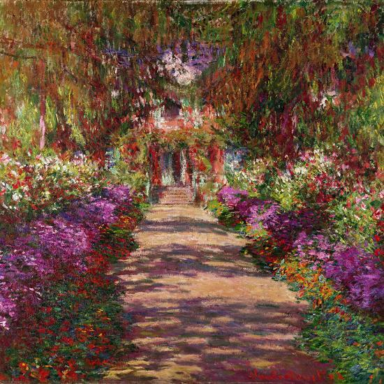 A Pathway in Monet's Garden, Giverny, 1902-Claude Monet-Giclee Print