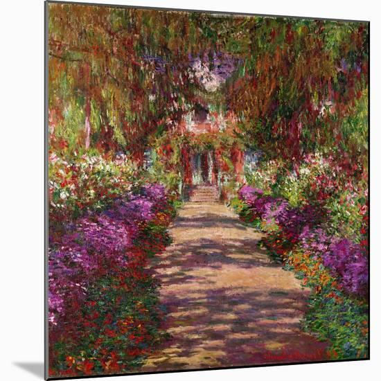 A Pathway in Monet's Garden, Giverny, 1902-Claude Monet-Mounted Giclee Print