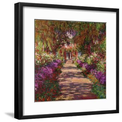 A Pathway in Monet's Garden, Giverny, 1902-Claude Monet-Framed Premium Giclee Print