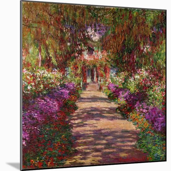 A Pathway in Monet's Garden, Giverny, 1902-Claude Monet-Mounted Premium Giclee Print