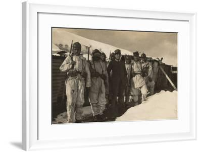 A Patrol in Uniform War Ready for the Mission--Framed Photographic Print