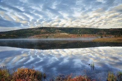 A Pattern of Clouds are Reflected in Wonder Lake in Denali National Park, Alaska-Design Pics Inc-Photographic Print