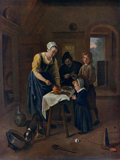 A Peasant Family at Meal-Time ('Grace before Meat), C1665-Jan Steen-Giclee Print