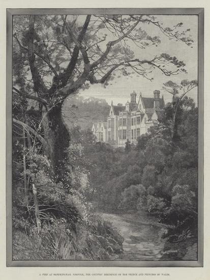 A Peep at Sandringham, Norfolk, the Country Residence of the Prince and Princess of Wales-Charles Auguste Loye-Giclee Print