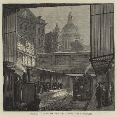 A Peep at St Paul's and The Times Office from Underground--Giclee Print