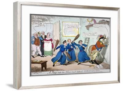 A Peep into the Blue Coat School!!!!!!!!!, 1815-George Cruikshank-Framed Giclee Print