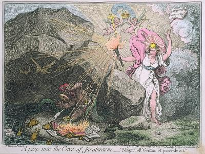 A Peep into the Cave of Jacobinism-James Gillray-Giclee Print