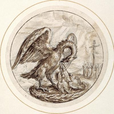 A Pelican in Her Piety, Early 17th Century-Crispin I De Passe-Giclee Print