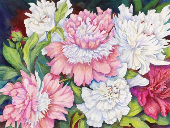 A Peony Cluster-Joanne Porter-Giclee Print