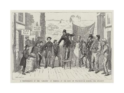 A Performance of the Adelphi of Terence by the Boys of Westminster School, the Epilogue--Giclee Print