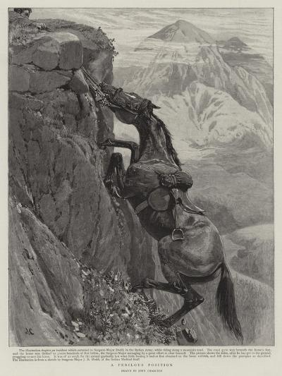 A Perilous Position-John Charlton-Giclee Print
