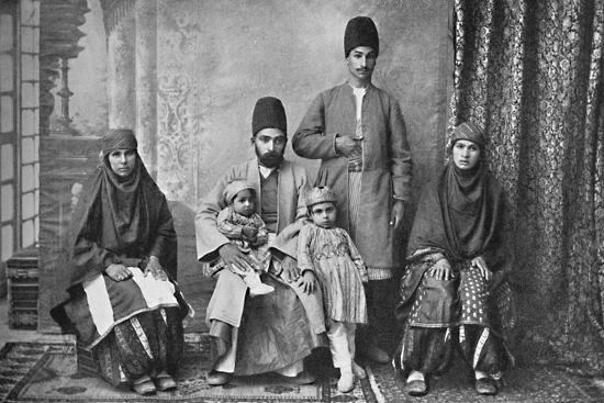 A Persian Parsi family, 1902-Unknown-Photographic Print
