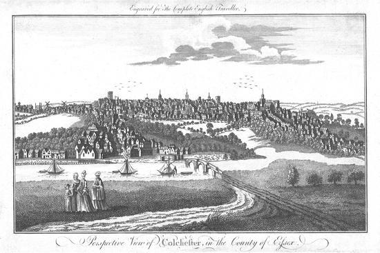 'A Perspective View of Colchester, in the County of Essex.', c1742-Unknown-Giclee Print