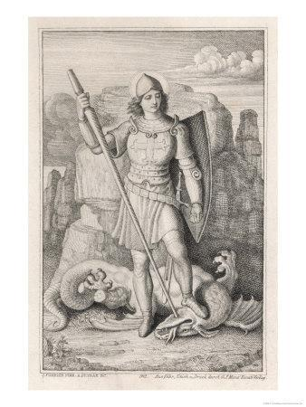 Saint George with His Foot on the Neck of the Dragon He Has Just Slain