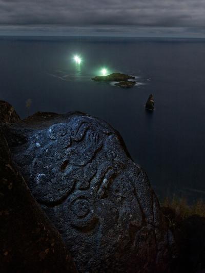 A Petroglyph with a Birdman Motif-Randy Olson-Photographic Print