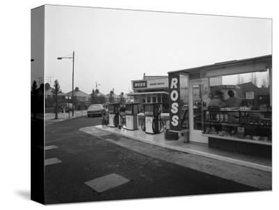 A Petrol Station Forecourt, Grimsby, Lincolnshire, 1965-Michael Walters-Stretched Canvas Print