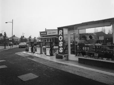A Petrol Station Forecourt, Grimsby, Lincolnshire, 1965-Michael Walters-Photographic Print