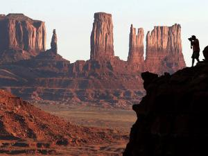 A Photographer at Monument Valley in the Navajo Nation, Ariz.