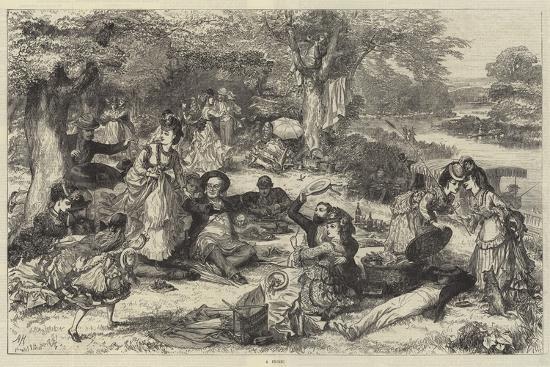 A Picnic--Giclee Print