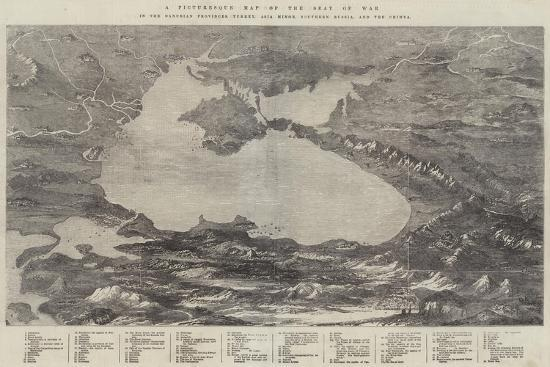 A Picturesque Map of the Seat of War--Giclee Print