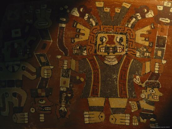 A Piece of Wari Pottery Depicting the Staff God-Kenneth Garrett-Photographic Print