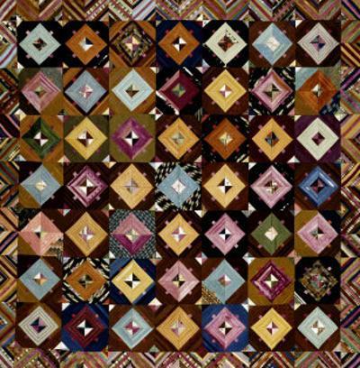 A Pieced Silk Coverlet Pennsylvania, C 1890