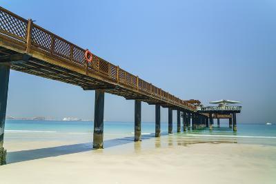 A Pier on Jumeirah Beach, Dubai, United Arab Emirates, Middle East-Fraser Hall-Photographic Print