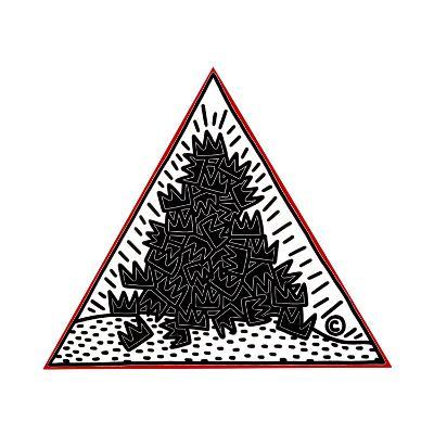 A Pile of Crowns for Jean-Michel Basquiat, 1988-Keith Haring-Giclee Print