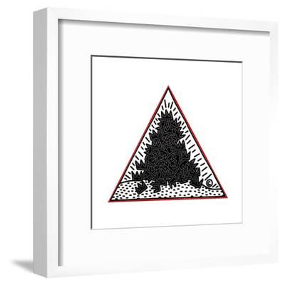 A Pile of Crowns for Jean-Michel Basquiat, 1988-Keith Haring-Framed Giclee Print