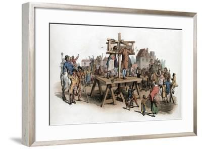 A Pillory, 1805-William Henry Pyne-Framed Giclee Print