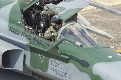 A Pilot Sitting in the Cockpit of a Brazilian Air Force F-5 Aircraft-Stocktrek Images-Photographic Print