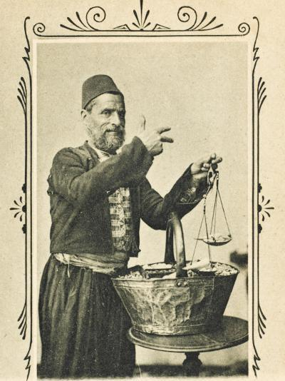A Pistachio Nut Seller from Izmir (Smyrna), Turkey--Photographic Print