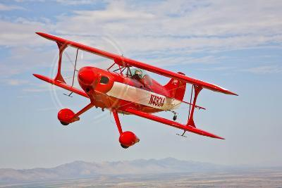 A Pitts Special S-2A Aerobatic Biplane in Flight Near Chandler, Arizona--Photographic Print