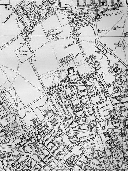 A plan of Holborn, St Giles, and St Pancras, London, in 1800 (1911)-Unknown-Giclee Print