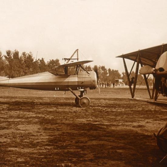 A plane taking off, c1914-c1918-Unknown-Photographic Print