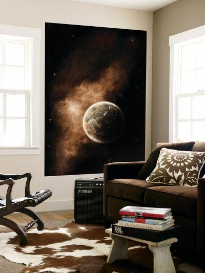 A Planet Full of Massive Mountain Chains and Vast Deserts-Stocktrek Images-Wall Mural