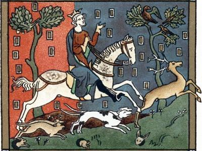 A Plantagenet King of England Out Hunting