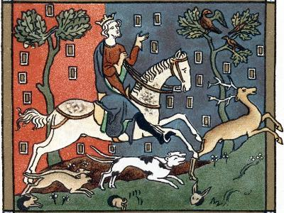 A Plantagenet King of England Out Hunting--Giclee Print