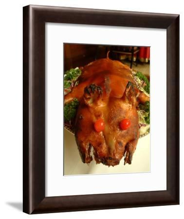 A Platter of Roasted Baby Piglet Served at the St. Regis Hotel-Richard Nowitz-Framed Photographic Print