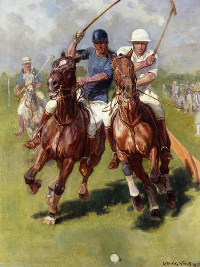 A Polo Match-Ludwig Koch-Giclee Print