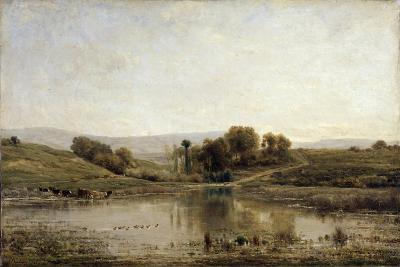 A Pond, 1858-Charles François Daubigny-Giclee Print