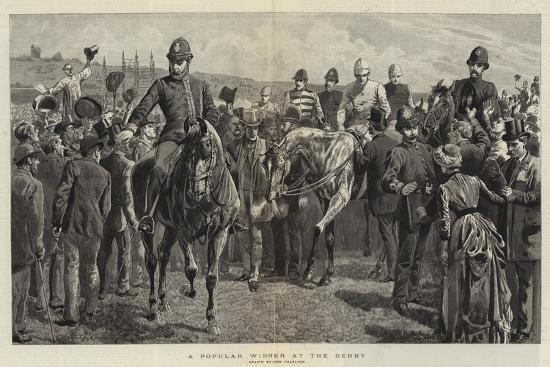 A Popular Winner at the Derby-John Charlton-Giclee Print