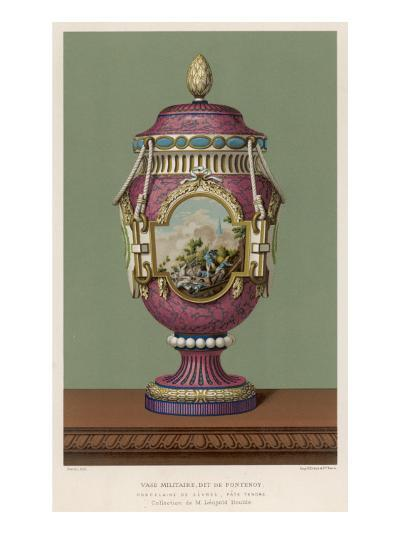 A Porcelain Vase from Sevres, France, in the Traditional Over-The-Top French Style--Giclee Print