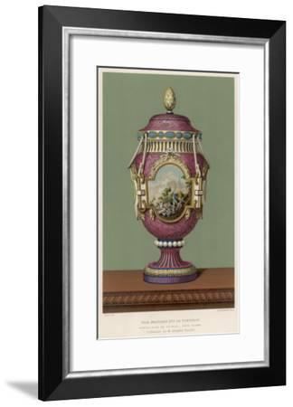 A Porcelain Vase from Sevres, France, in the Traditional Over-The-Top French Style--Framed Giclee Print