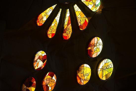 A Portion of a Rose Window at La Sagrada Familia Catedral-Michael Melford-Photographic Print