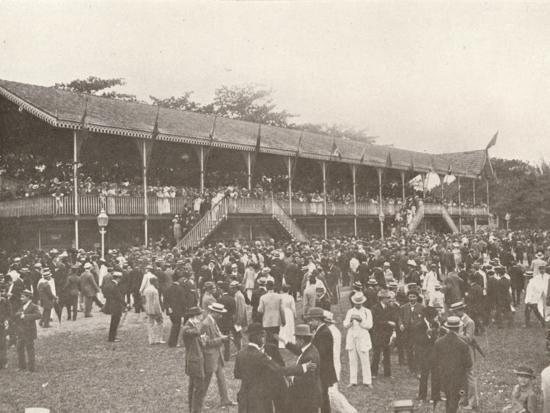 'A portion of the Derby Club Racecourse Enclosure', 1914-Unknown-Photographic Print