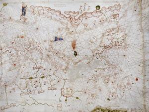 A Portolan Chart of Europe, circa 1500