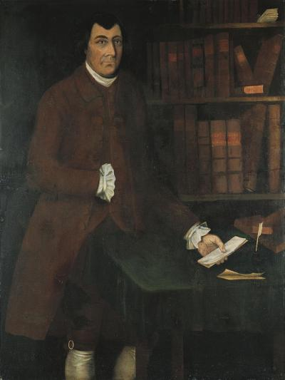 A Portrait of Charles Church Chandler in the Library-Winthrop Chandler-Giclee Print
