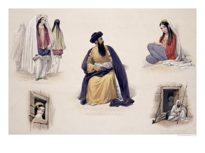 """A Portrait of His Majesty Shah-Soojah-Ool-Moolk, from """"Sketches in Afghaunistan""""-James Atkinson-Giclee Print"""